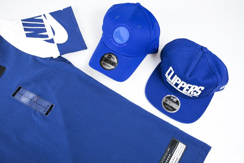 Nike sportswear tshirt New era cap curved snapback Golden state warriors Los Angeles Clippers
