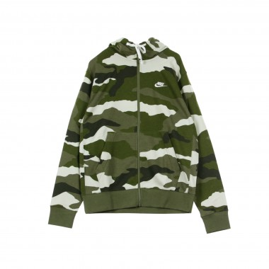 HOODED SWEATSHIRT CLUB HOODIE FZ FT CAMO