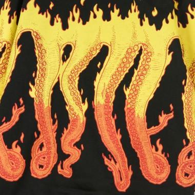 HOODED SWEATSHIRT FLAMES HOODIE