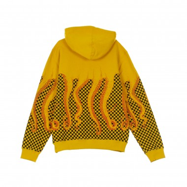 HOODED SWEATSHIRT CHECKERED HOODIE