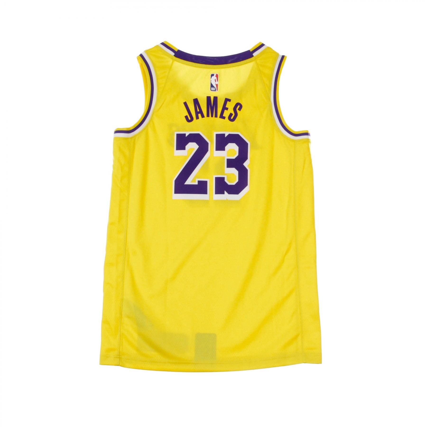 quality design 705fe 11a15 BASKET NBA SWINGMAN JERSEY NO23 LEBRON JAMES LOSLAK ROAD AMARILLO/FIELD  PURPLE/WHITE