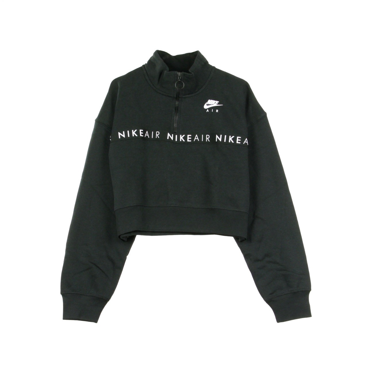 Black Maglione Lupetto Zip Up Sweater