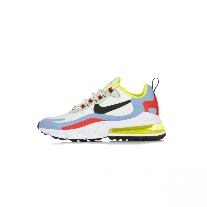 SCARPA BASSA W AIR MAX 270 REACT BAUHAUS PHANTOMBLACKLIGHT BLUEUNIVERSITY RED |