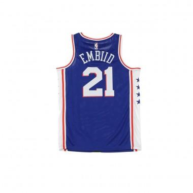 CANOTTA BASKET NBA SWINGMAN JERSEY NO21 JOEL EMBIID PHI76E ROAD L