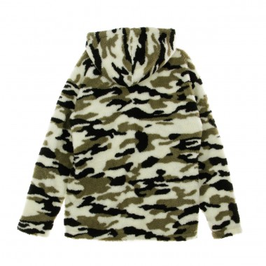 GIUBBOTTO CAMO SHERPA PULL OVER JACKET