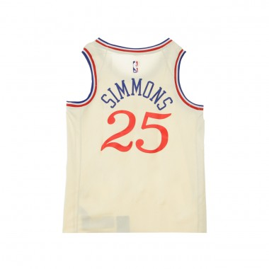 CANOTTA BASKET NBA CITY EDITION SWINGMAN JERSEY NO25 BEN SIMMONS PHI76E