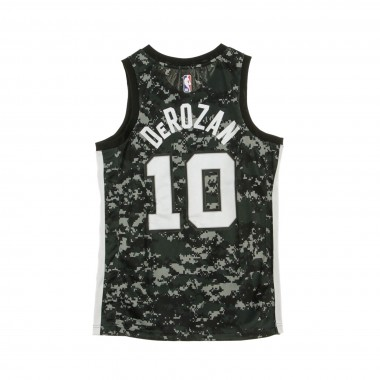 CANOTTA BASKET NBA CITY EDITION SWINGMAN JERSEY NO10 DEMAN DEROZAN SANSPU
