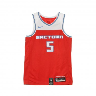 CANOTTA BASKET NBA CITY EDITION SWINGMAN JERSEY NO5 DE AARON FOX SACKIN