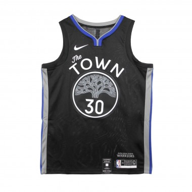 CANOTTA BASKET NBA CITY EDITION SWINGMAN JERSEY NO30 STEPHEN CURRY GOLWAR