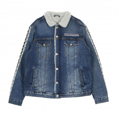 GIUBBOTTO JEANS NECKLACE DENIM JACKET