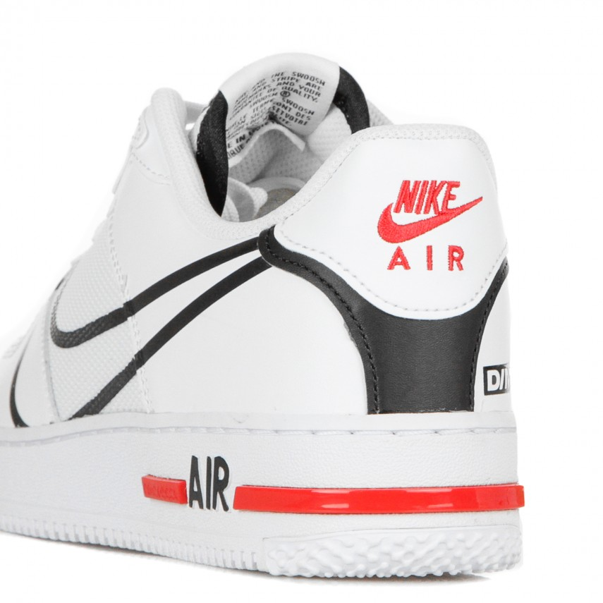 air force 1 react bianche rosse