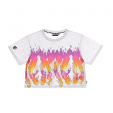 MAGLIETTA CORTA W FLAMES CROP TEE M
