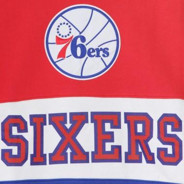 FELPA GIROCOLLO NBA LEADING SCORER FLEECE CREW PHI76E