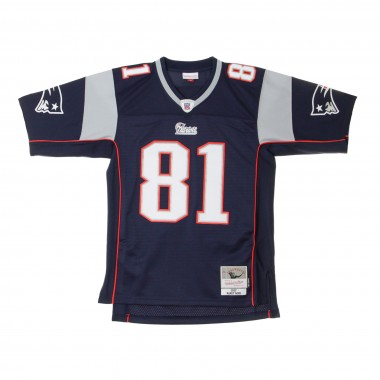 CASACCA FOOTBALL AMERICANO NFL LEGACY JERSEY RANDY MOSS NO81 NEW ENGLAND PATRIOTS 12007 HOME
