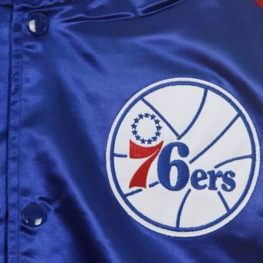 GIUBBOTTO BOMBER NBA COLOR BLOCKED SATIN JACKET PHI76E