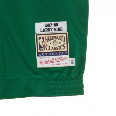 CASACCA BOTTONI BASKET NBA AUTHENTIC SHOOTING SHIRT LARRY BIRD 1987-88 BOSCEL