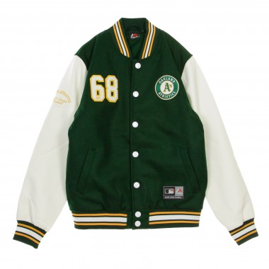GIUBBOTTO COLLEGE MLB SENGER LETTERMAN JACKET OAKATH