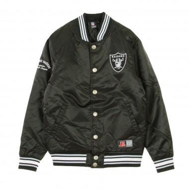 GIUBBOTTO BOMBER NFL GLASCOE PADDED SATIN JACKET OAKRAI