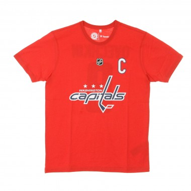 MAGLIETTA NHL ICONIC NAME  NUMBER GRAPHIC TEE NO8 OVECHKIN WASCAP