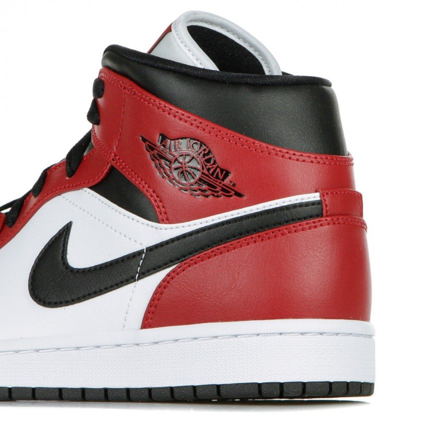 HIGH SHOE AIR JORDAN 1 MID CHICAGO TOE BLACK/BLACK/GYM RED