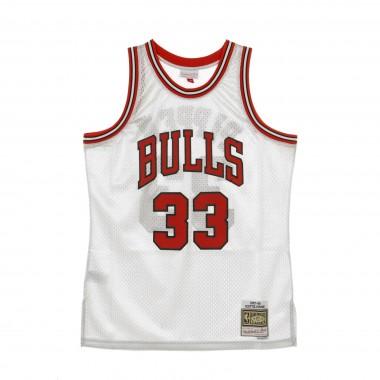 CANOTTA BASKET NBA SWINGMAN JERSEY PLATINUM HARDWOOD CLASSICS NO33 SCOTTIE PIPPEN 1997-98 CHIBUL