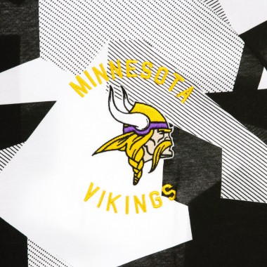 CASACCA NFL VIKINGS ALL OVER PRINT OVERSIZED TEE MINVIK