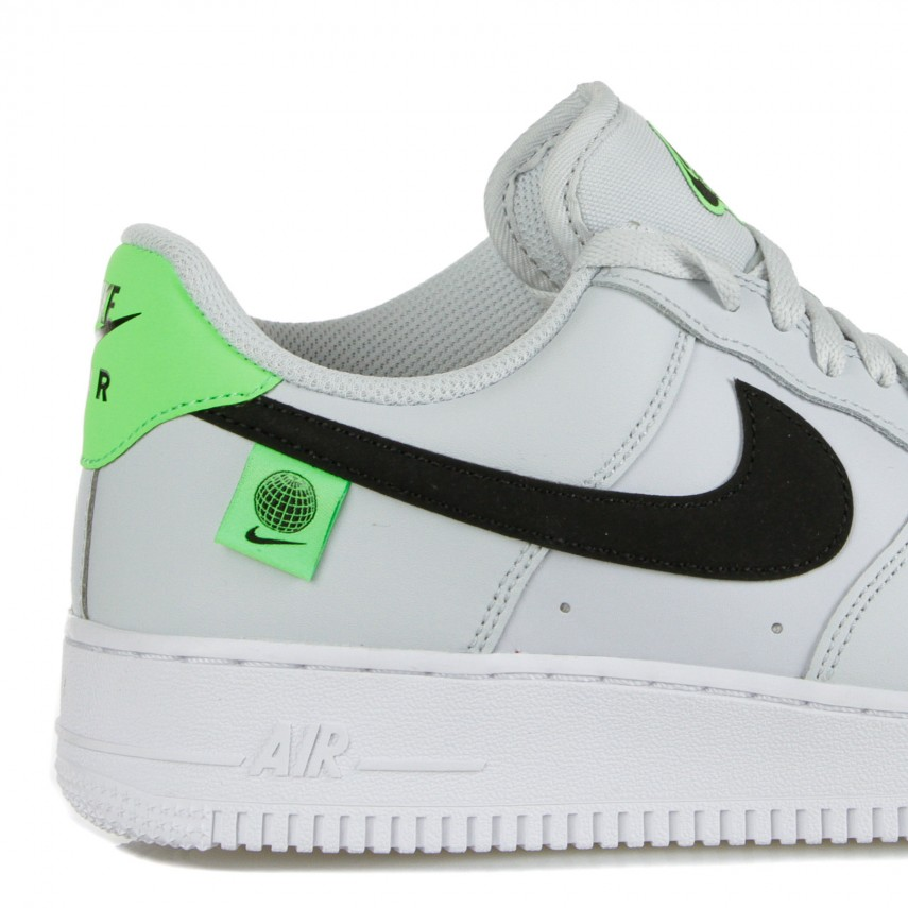 scarpa bassa uomo air force 1 '07 ww PURE PLATINUM/BLACK/GREEN STRIKE