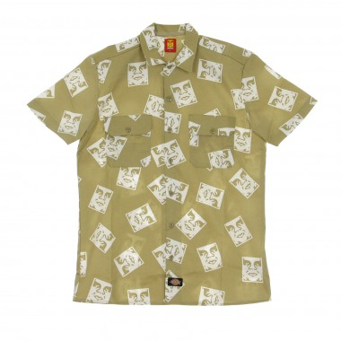 CAMICIA MANICA CORTA OBEY X DICKIES OBY3 SHIRT
