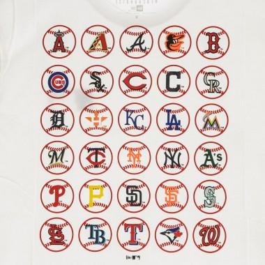 MAGLIETTA MLB TEAM BALL TEE MLB LOGO