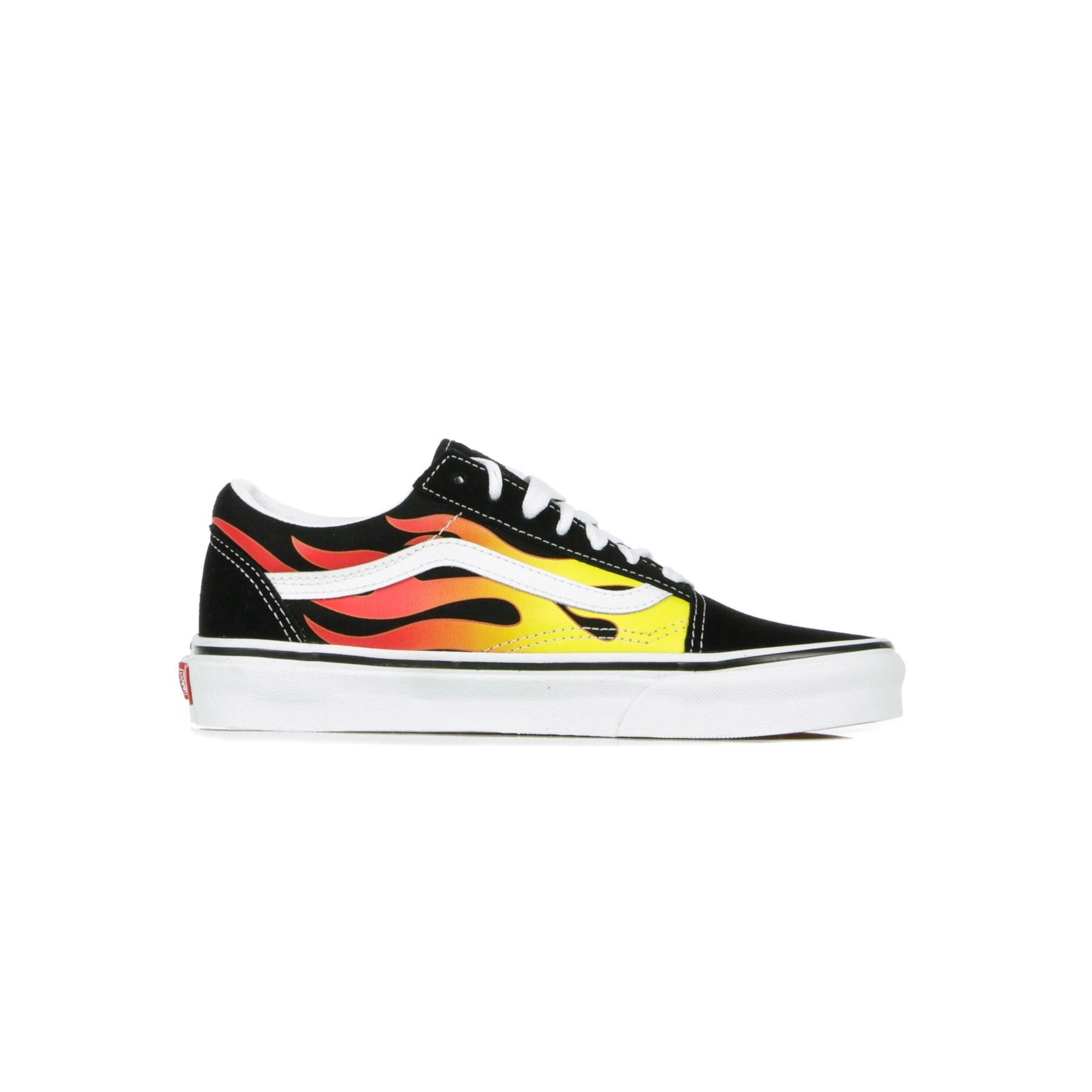 scarpa bassa uomo old skool (flame) BLACK/BLACK/TRUE WHITE