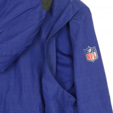 GIACCA A VENTO INFILABILE NFL TEAM LOGO PREGAME LIGHTWEIGHT PLAYER JACKET NEYGIA