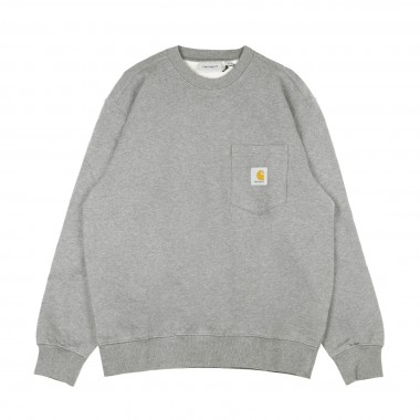 FELPA LEGGERA GIROCOLLO POCKET SWEAT