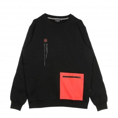 FELPA COLLO ALTO POCKET CREWNECK BLACK  RED