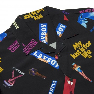 CAMICIA MANICA CORTA COLLAGE SHORT SLEEVE WOVEN SHIRT X PLAYBOY