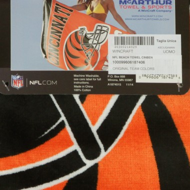 ASCIUGAMANO NFL BEACH TOWEL CINBEN Array