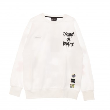FELPA LEGGERA GIROCOLLO DREAM OR REALITY CREWNECK