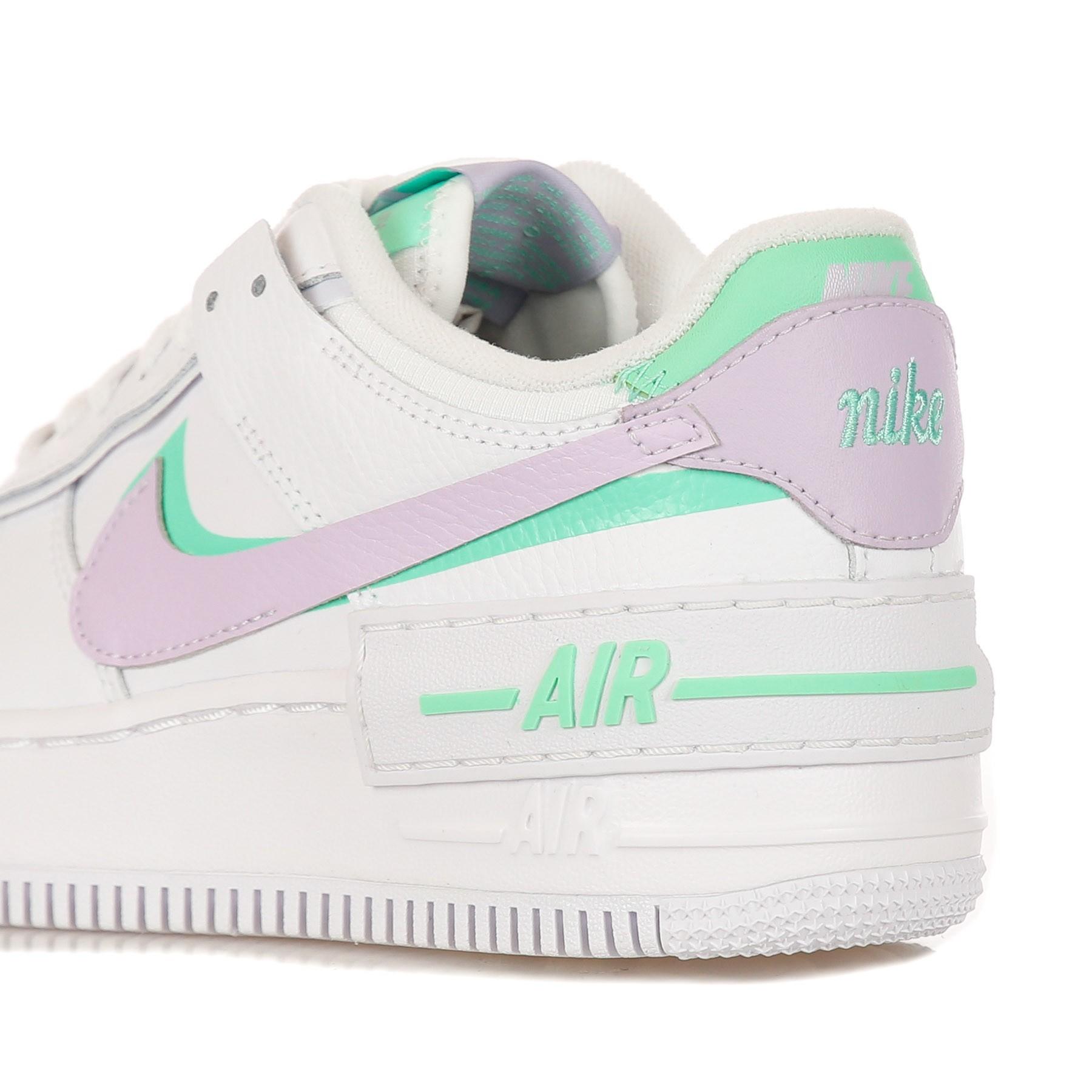 scarpa bassa donna air force 1 shadow WHITE/INFINITE LILAC/FOOTBALL GREY