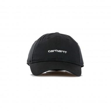 CAPPELLINO VISIERA CURVA CANVAS SCRIPT CAP