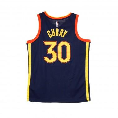 CANOTTA BASKET NBA SWINGMAN JERSEY CITY EDITION 2020 NO 30 STEPHEN CURRY GOLWAR