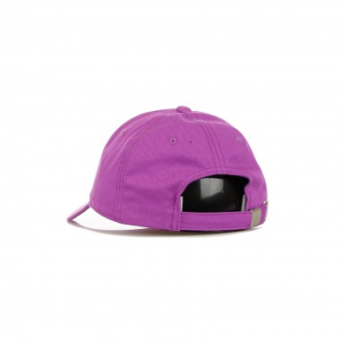 curved visor cap man linear logo 6 panel