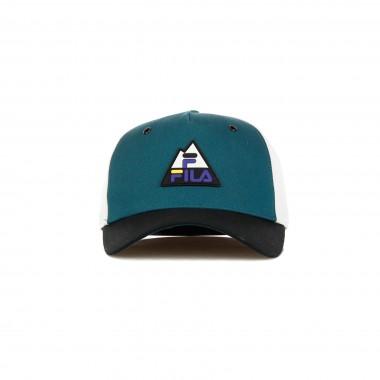 CAPPELLINO VISIERA CURVA 5 PANEL CAP COLOURBLOCK MOUNTAIN LOGO