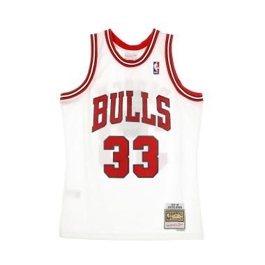 CANOTTA BASKET NBA SWINGMAN JERSEY HARDWOOD CLASSICS N33 SCOTTIE PIPPEN 1997-98 CHIBUL HOME
