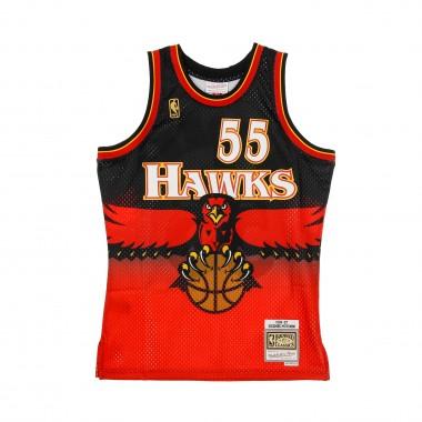 CANOTTA BASKET NBA SWINGMAN JERSEY HARWOOD CLASSICS NO55 DIKEMBE MUTOMBO 1996-97 ATLHAW ROAD