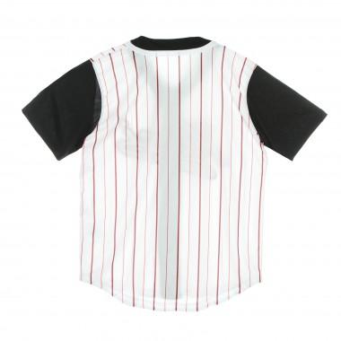jersey with buttons man varsity block pinstripe baseball shirt