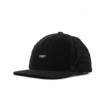 flat visor cap man bold cord strapback