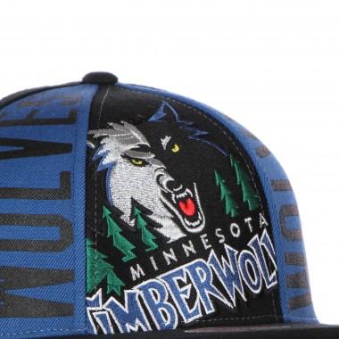 CAPPELLINO VISIERA PIATTA UOMO NBA BIG FACE CALLOUT SNAPBACK HARDWOOD CLASSICS MINTIM