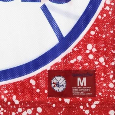 CANOTTA TIPO BASKET UOMO NBA JUMBOTRON SUBLIMATED MESH TANK HARDWOOD CLASSICS PHI76E M