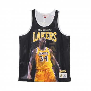 CANOTTA TIPO BASKET UOMO NBA BEHIND THE BACK TANK SHAQUILLE ONEAL HARDWOOD CLASSICS LOSLAK M