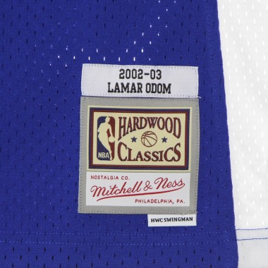 CANOTTA BASKET UOMO NBA SWINGMAN JERSEY HARDWOOD CLASSICS NO 7 LAMAR ODOM 2002-03 LOSCLI