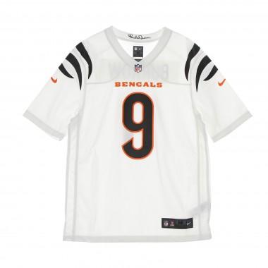 casacca football americano uomo nfl game road jersey no 9 burrow cinben